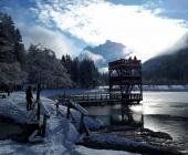 jezero Jasna v zimskem času