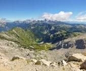 Pogled iz Krna na Krnsko jezero