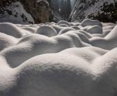 Martuljški slapovi - pot pozimi